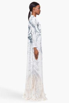 Balmain Silk Totem Print Dress