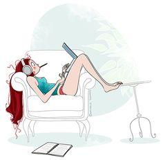 Nathalie Jomard : Pin Up and Cartoon Girls Illustrators, Girl Cartoon, Character Design, Character Art, Illustration, Drawings, Drawing Illustrations, Animation, Cartoon