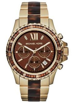 9fd6d361a622 Michael Kors Mid-Size Two-Tone Stainless Steel Everest Chronograph Glitz  Watch.