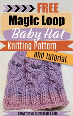 Free Baby Hat Magic Loop Knit Pattern and Tutorial Owl Knitting Pattern, Baby Hat Knitting Patterns Free, Baby Hat Patterns, Baby Hats Knitting, Free Knitting, Knitted Hats, Magic Loop Knitting, Free Baby Stuff, Baby Shower