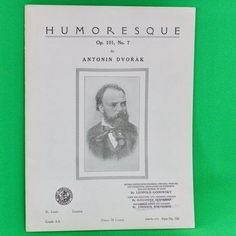 1918 Art Publication Society Teacher's Library Sheet Music, #726, Antonin Dvorak
