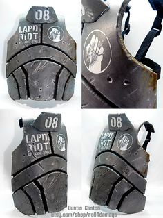Second version of the NCR body armor from New Vegas. Changed the pattern to better reflect the game and fit better. Has adjustable straps on the back to get a custom fit. The plates are made from 1... Ncr Ranger, Ranger Armor, Post Apocalyptic Costume, Post Apocalyptic Fashion, Cosplay Armor, Cosplay Diy, Cosplay Tutorial, Anime Cosplay, Cosplay Ideas
