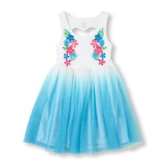 -She'll heart her new dress that features a cut out back and flowy tutu skirt!
