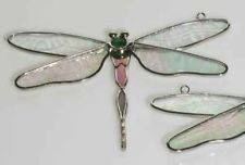 Dragonfly Stained Glass Suncatcher with GREEN Body