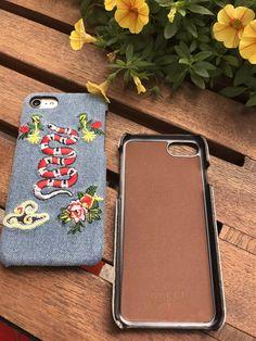 Gucci欧米グッチ個性的DIY刺繍国際海外おしゃれデニム布ジーンズiphone8/7s