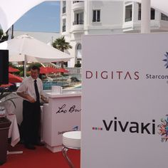 The vivaki tent is up and running at the majestic