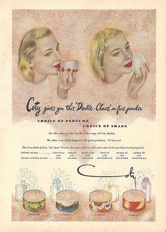 1940s coty face powder ad