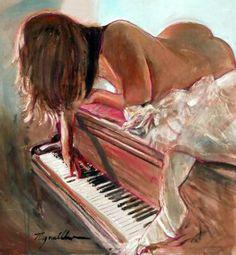Sólo de piano.