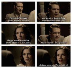 Agent Jack Thompson and Agent Peggy Carter