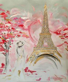 Le Printemps 1 - 1.20 m Acrylic Painting on canvas for sale