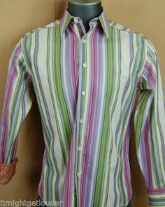 Robert Graham Mens Sport Shirt Lilac Stripes Floral Flip Cuff M Free SHIP | eBay Mens Printed Shirts, Robert Graham, Floral Stripe, Sports Shirts, Lilac, Stripes, Shirt Dress, Ship, My Style