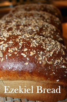 Four Kitchen Decorating Suggestions Which Can Be Cheap And Simple To Carry Out Joy Unspeakable: How To Make Really Good Bread Gourmet Recipes, Bread Recipes, Whole Food Recipes, Cooking Recipes, Cooking Bread, Bread Baking, Yeast Bread, Homemade Ezekiel Bread Recipe, Gluten Free Ezekiel Bread Recipe