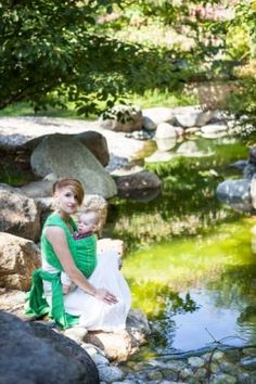 From Kerri: The reason I love this picture is because they look so peaceful and blend in with the surrounding nature. I feel babywearing is a natural thing and would love a wrap.