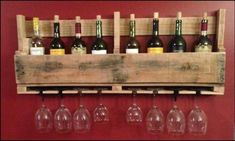 You saw this one coming. A wooden wine rack will add that rustic feel to your home. Great for unwinding at the end of your busy day.