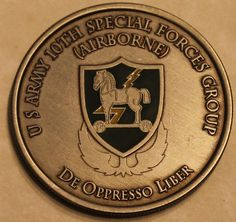 10th Special Forces Group Airborne Commander & CSM Army Challenge Coin