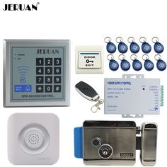 JERUAN New RFID Password Access Controller Door control system kit +Remote control + Exit Button +Doorbell + 12V Electric Lock #Affiliate
