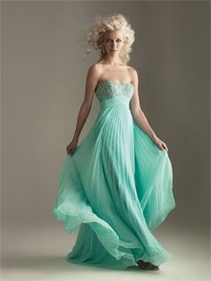 Little Beaded Sweetheart Empire Pleated A-line Floor Length Chiffon Prom Dress PD1337 www.tidedresses.co.uk $196.0000