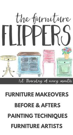 Furniture Flippers Furniture Makeovers! Monthly furniture before and after makeovers you have to see! GORGEOUS painted furniture ideas!! Learn how to refinish and paint furniture from these furniture painting bloggers! #furniturepainting #furnitureflippers #furnitureideas #paintedfurniture #furnituremakeovers