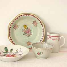 Vintage floral china by Jill Bent