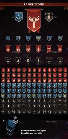 Ranks Icons - Miscellaneous Game Assets