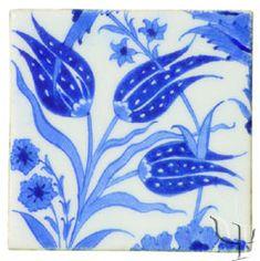 Iznik Tile - blue tulips Tile Art, Mosaic Tiles, William Morris, Blue Tulips, Turkish Tiles, Style Tile, White Decor, Tile Patterns, My Favorite Color