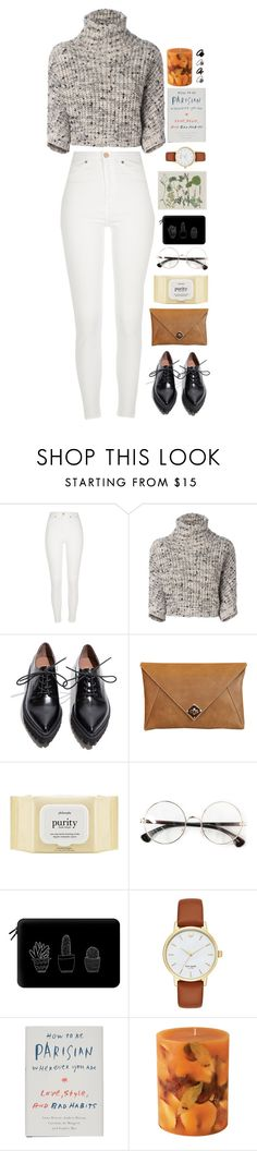 """""""Minimalist"""" by surferblood ❤ liked on Polyvore featuring River Island, Brunello Cucinelli, Jeffrey Campbell, The Code, philosophy, Casetify, Kate Spade, Random House, Rosy Rings and Topshop"""