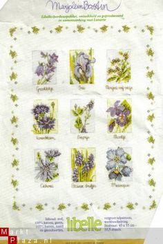Marjolein Bastins artwork forms a base to many lovely cross stitch patterns !