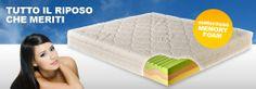 L' azienda notteoro produce e commercializza materassi in memory, in lattice e guanciali con lo stesso materiale. In vendita sul sito web della sicoetà numerose opportunità anche di reti a doghe e molle.