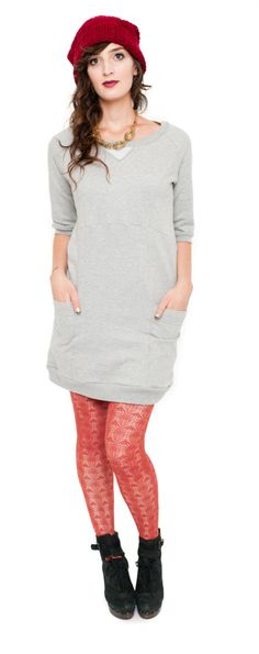 Lola Dress: Victory Patterns - lengthen and skip the band at the bottom.  Dressy fleece!