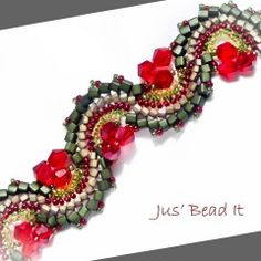 how to make  Fire Dragon Dance bracelet.  (Translate) ~ Seed Bead Tutorials