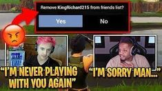 ninja yells at king richard for not playing good fortnite best moments king richard - king richard fortnite real name