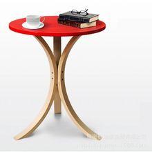 עדין ליבנה נטווד פשוט אופנה ירוק אדום שולחן צד שולחן אוכל שולחן קפה שולחן עגול קטן (China (Mainland))