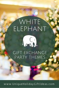 A white elephant party takes on a whole new twist when you add a theme. Check out these ideas for your Christmas party gift exchange: White Elephant Christmas, White Elephant Gifts, Elephant Party, Christmas Party Themes, Christmas Games, Xmas Games, Holiday Games, Christmas 2017, Christmas Stuff