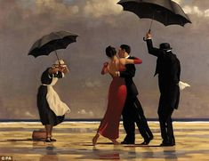 Well-known: The Singing Butler is one of Jack Vettriano's most famous paintings