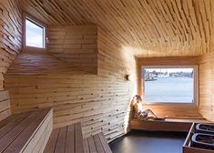Raumlabor builds industrial-looking sauna in Gothenburg