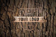 Logo on Wood Texture Online Mockup - Mediamodifier