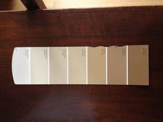 Beige Paint Sw Swatch 18 Antique White 6119 6125 Craft Paper