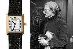 Even Andy Warhol loved his Cartier watch. Model: Louis Cartier in 18k yellow gold.