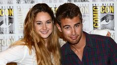 Shailene Woodley and Theo James at #SDCC #Divergent