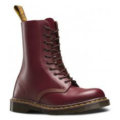 Dr Martens Unisex 1490 Oxblood (Vintage Made In England Range) 10 Eye Leather Boots