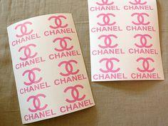 2.5'' Chanel Vinyl Aufkleber-16pcs. Chanel von DecalworldStudio