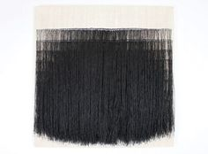 Sofie Dawo -- 1973, waxed thread on cotton, 69 × 69 cm