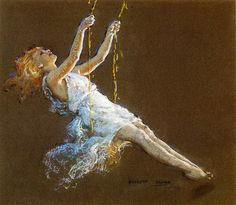 Everett Shinn - Girl on a Swing | by irinaraquel