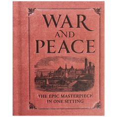 Undeniably epic in scale, Tolstoy's masterpiece has intimidated readers since it was published in 1869—until now. This deluxe mini edition of #WarandPeace makes this massive yet masterful work accessible to readers, who can get to know the greatest #novel ever written in just one sitting. #littleobsessed