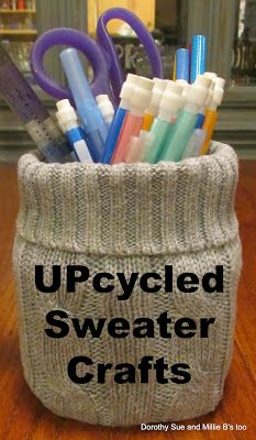 Dorothy Sue and Millie B's too #upcycle sweater #sweater recycle #sweatercrafts