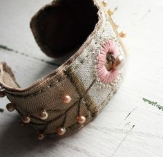 Rebecca Sower - Embroidered Fabric cuff