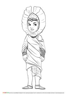 #Free #Printable Coloring Pages for toddlers and preschoolers: #masai. Click through to customize and download free color pages for kids as a FREE PDF    http://www.moonagroup.com