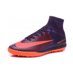 Discount 2017 Nike Mercurial Superfly V TF Purple Football Shoes 41d35519507f0