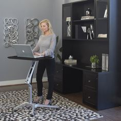 Workpad Adjustable Desk | Sit Stand Desk | For Home or Offices | Easily Rolls | Designed to fit in wherever you need it to be. Available in many colors.