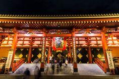 写真 浅草寺の夜景 お蔵入りを今の自分の技量で再現像